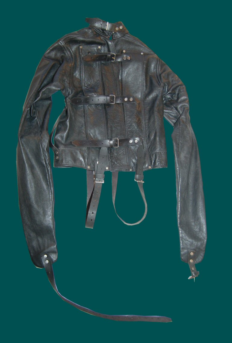 Fetters Leather Straitjacket from the 1980s. Back
