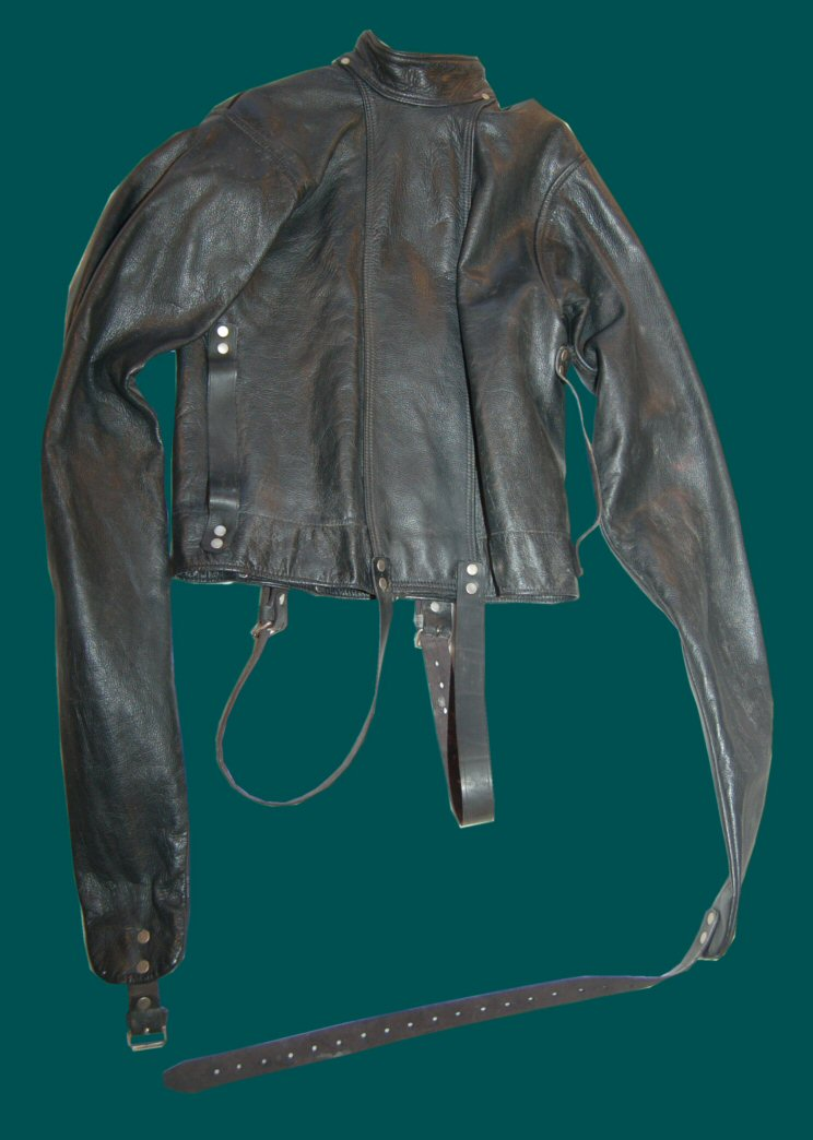Fetters Leather Straitjacket from the 1980s. Front